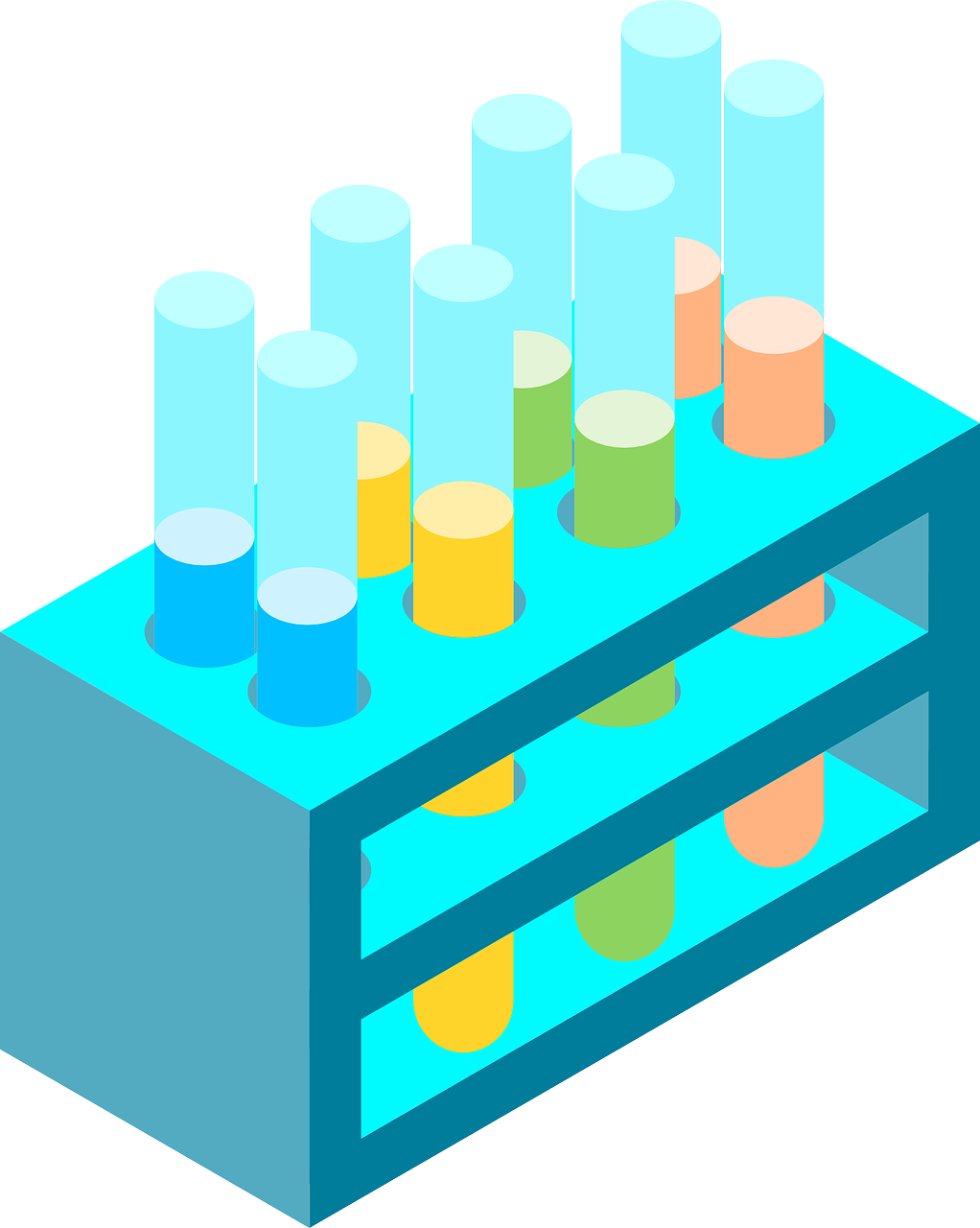 chemistry, isometric, test tube