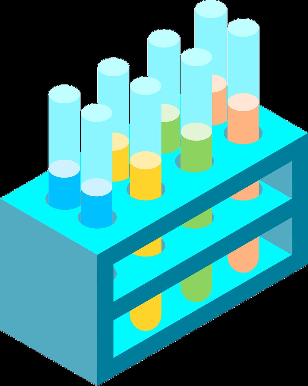 chemistry, isometric, test tube